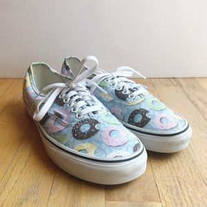 Vans Latenight Skyway Donut Print Sneakers Sz 8.5